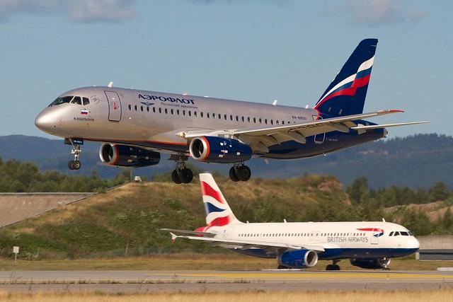 RA89001 Aeroflot - Russian Airlines Sukhoi Superjet 100-95B