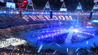 George Michael performs Freedom at the Olympic Closing Ceremony | by David Jones