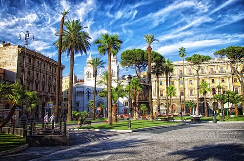 Italy Rome Piazza Camile Benso Conte di Cavour August 2012
