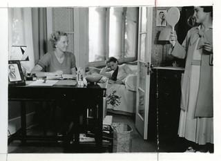 Women in a dorm room in 1930