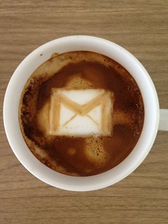 Today's latte, Gmail. | by yukop