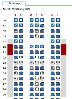 American Airlines 767 Seating Chart Seating Chart Of An Am Flickr