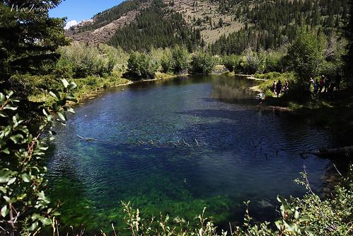 people lake water spring pond idaho willow deadtree fault algae spruce snag faultline marshgrass bearlakecounty wyojones bluepondspring stcharlescanyon