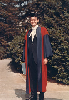 Pomona's seventh president, David Alexander, in his robes for his 1969 inauguration