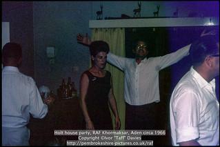 Holt house party, RAF Khormaksar, Aden circa 1966
