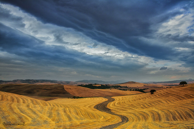 Storm over the Val d'Orcia
