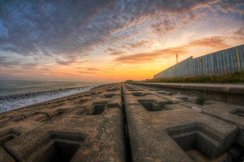 sunset sea japan clouds landscape hdr photomatix tomakomai