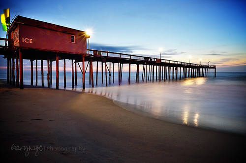 longexposure usa beach sunrise pier fishing nikon maryland oceancity d7000 hurricanesandy