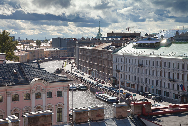 Traditional St.Petersburg from the roof