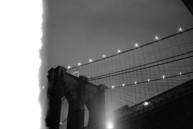 Brooklyn Bridge Burned Frame