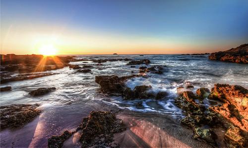 ocean sunset sea beach port sunrise rocks exposure smoke australia filter nd maquarie hdr 1000 multi