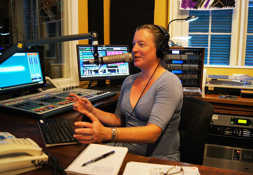 Suzanne Corley hosts Jazz from the French Market on Thursday afternoon during WWOZ's Fall Fund Drive. Photo by Bill Sasser