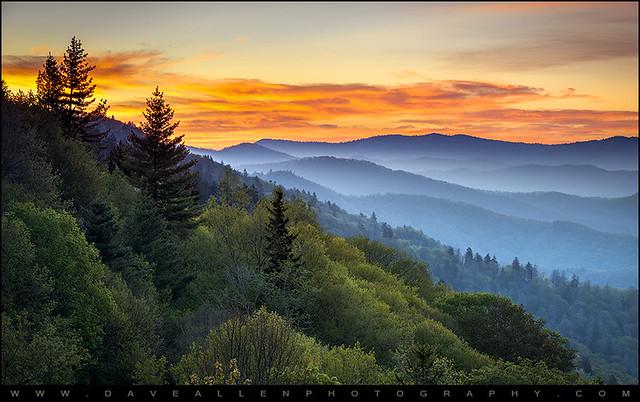 Great Smoky Mountains National Park - Morning Haze at Oconaluftee