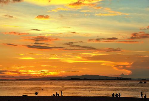 sunset りんくうタウン マーブルビーチ kansaiintairport