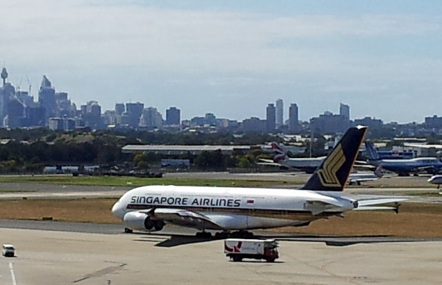 Singapore Airlines A380, Sydney Airport, New South Wales, Australia