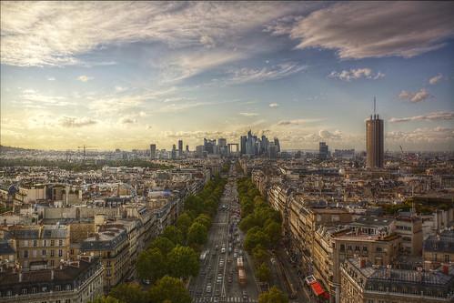 Paris skyline from the Arc De Triomphe   by SLR Joe