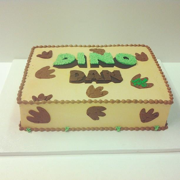 Stupendous Dino Dan Birthday Cake Austin Customcake Polkadots Olga Flickr Funny Birthday Cards Online Necthendildamsfinfo