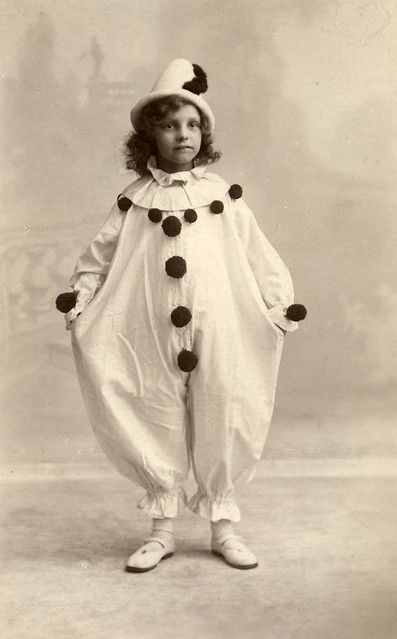 Child dressed as a pierrot