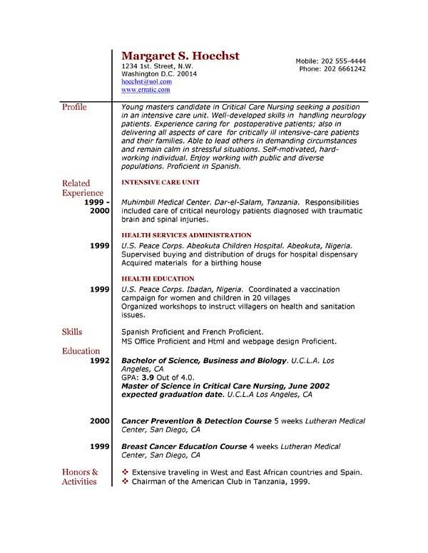 Resume Samples for Nurses | onebuckresume resume layout resu