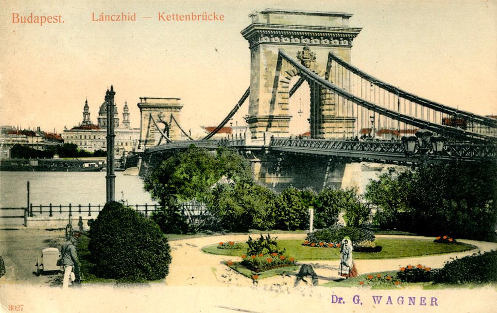 "Image result for 1905 postcard chain bridge"""