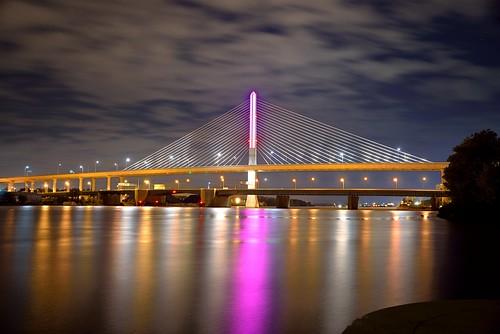 bridge ohio night lights long exposure cloudy toledo fx d600 nikond600 nikon28300mmf3556