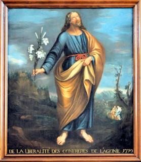 Saint-Joseph, patron de la bonne mort. Peint par Adrien Richard, et offert par la confrérie de l'Agonie en 1729