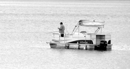 blackandwhite lake boat fishing marine odc