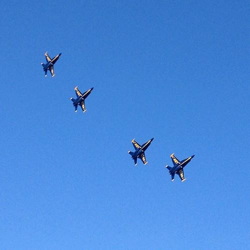 hey, flyboys. #blueangels #sf | by sarahwulfeck