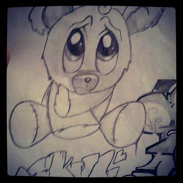 skull #sketch #art #arte #draw #drawing #bear #graff #gra