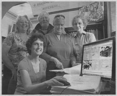 Gawler Historical Rates Assessment Database Project Team - Helen Hennessy, Geoff New, Bev Burke, Anne Richards and [seated] Helen Wilmore