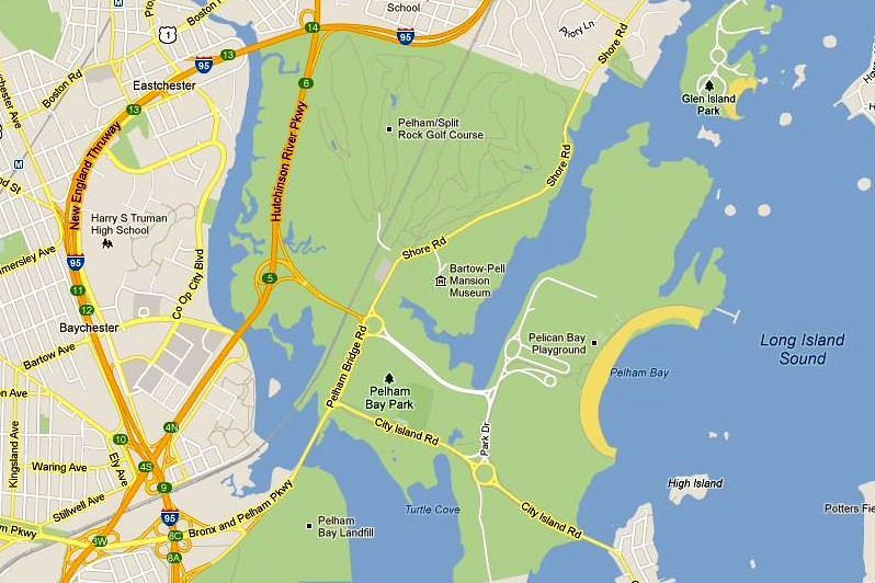 Google Map Of New York City.Map Of Pelham Bay Park New York City Courtesy Google Maps Flickr