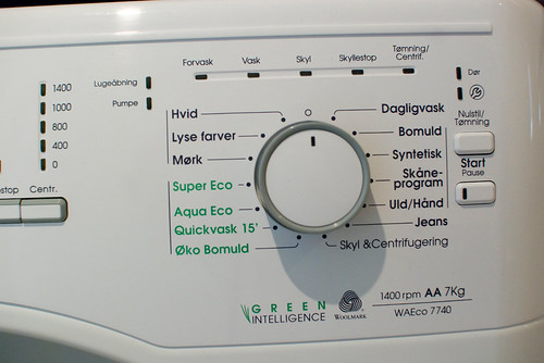 That tired moment of travel when you look at a washing machine and have no idea what setting to choose, except NOT 'jeans.'