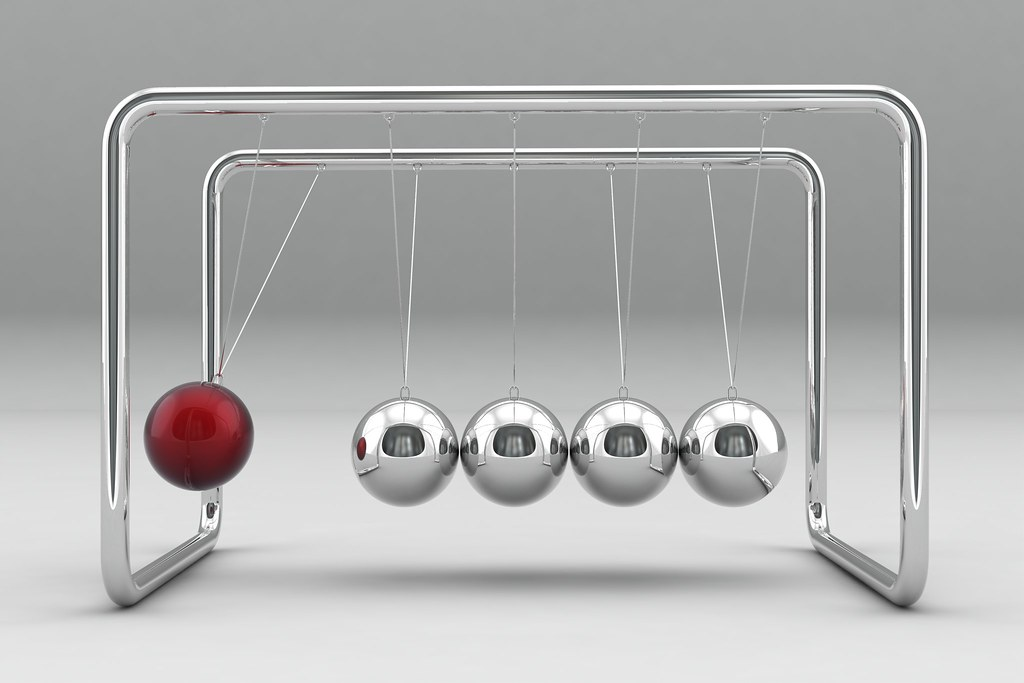 Image result for newtons cradle