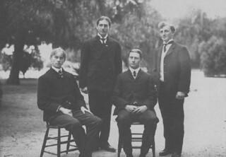 Members of the 1906 freshman debating team