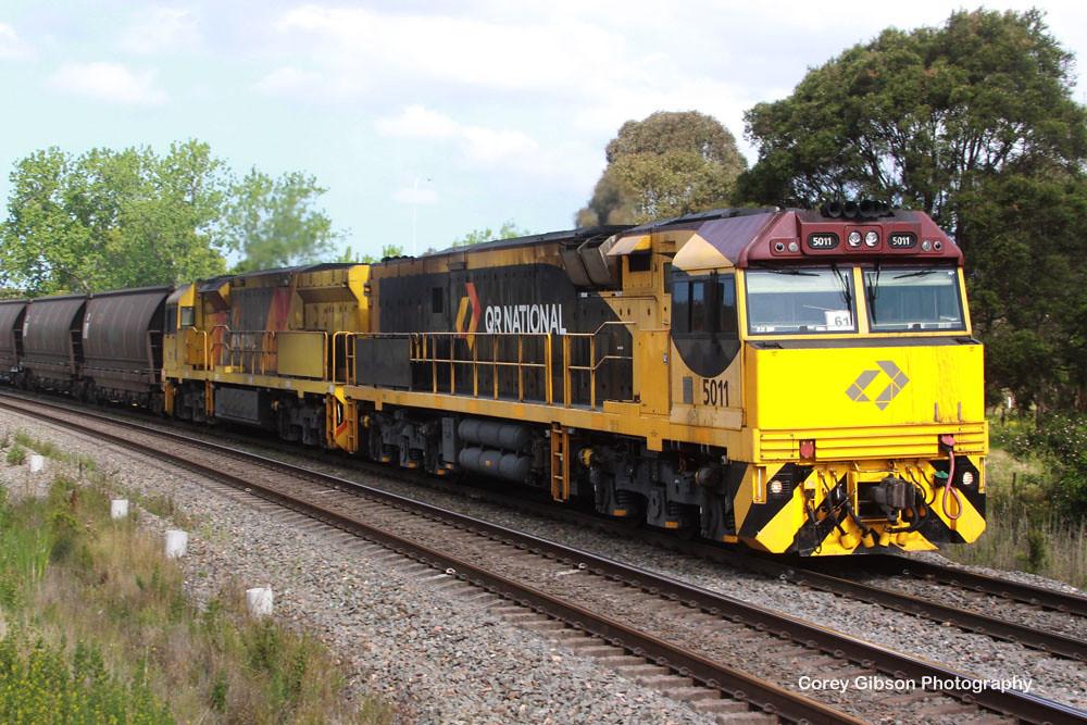 Queensland Railway Loco's 5011 & 5025 pass through Tarro by Corey Gibson