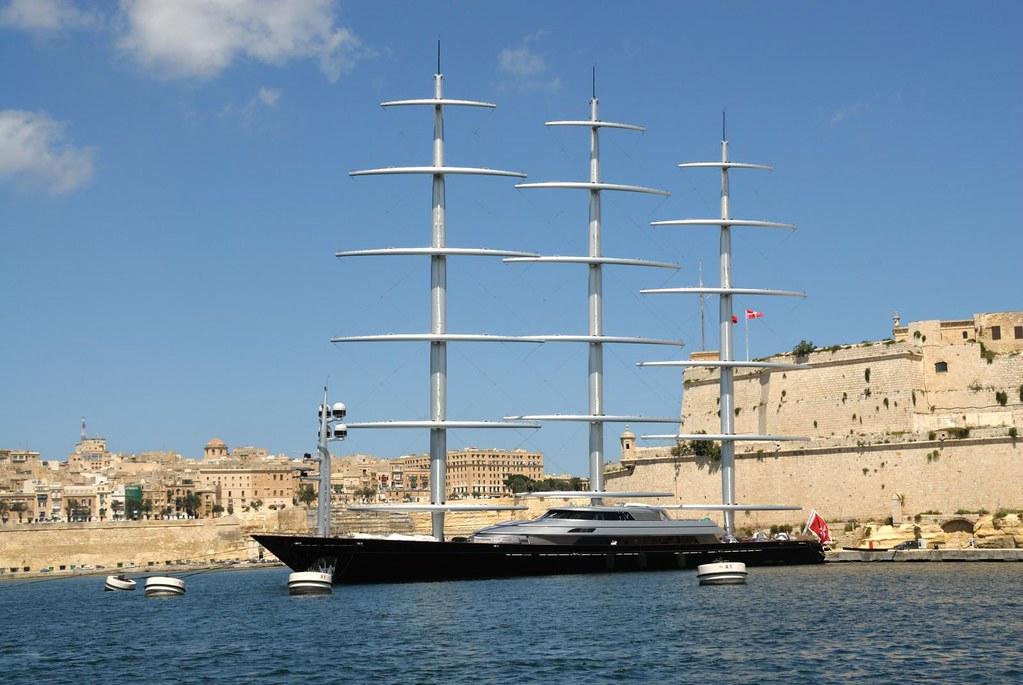 Maltese Falcon (yacht) | Grand Harbour, Valletta  Malta, Sep