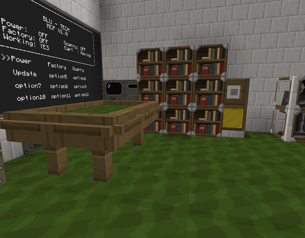 Minecraft - Pool Table, Grandfather Clock and Bookshelf  Flickr