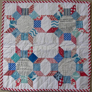 My mini quilt from Narcoleptic in a Cupboard!