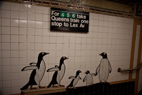 New York City Subway Art: Central Park Zoo stop