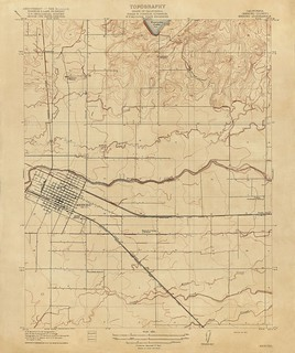 Merced, California Quadrangle Topographic Map, 1917