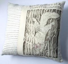 white squirrel pillow