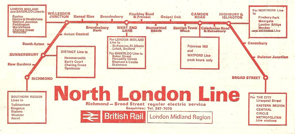 London Line Map.North London Line 1970 British Rail Lmr Route Map Flickr