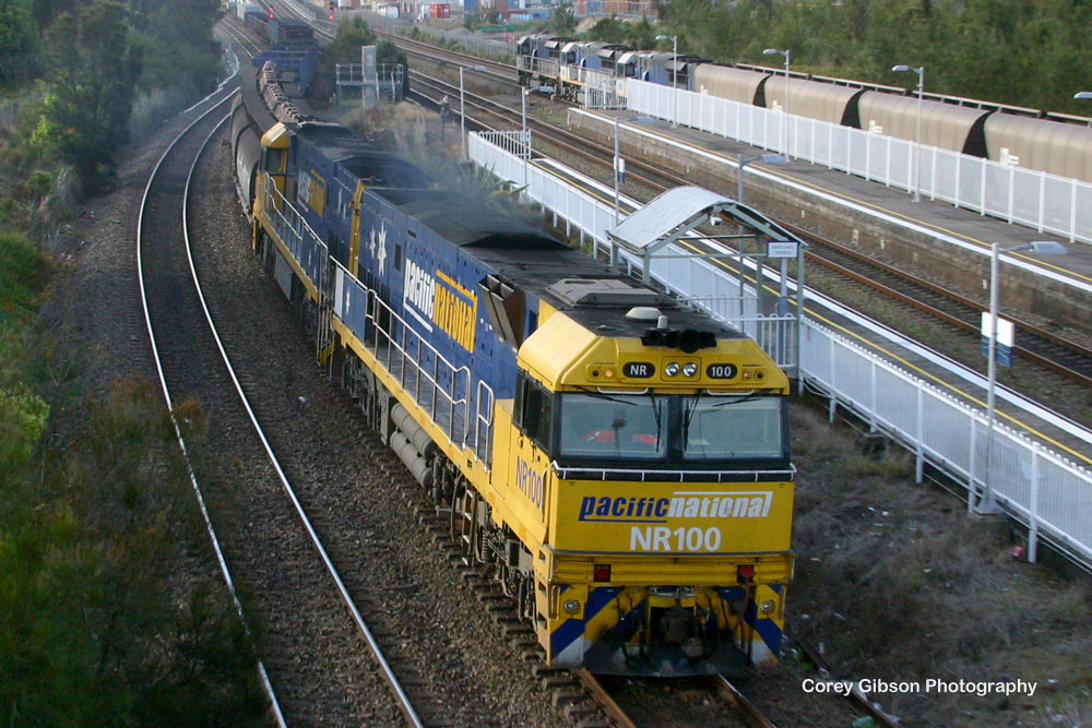 NR100 rolls by Sandgate station by Corey Gibson