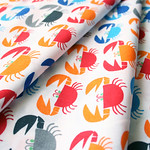 Cloud9 Fabrics Happy Drawing,Too by Ed Emberley Crabs