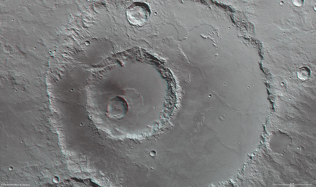 Mars in 3D: Hadley crater