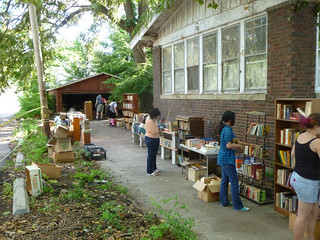 Hart Estate Book Sale with Dominique and Nadja
