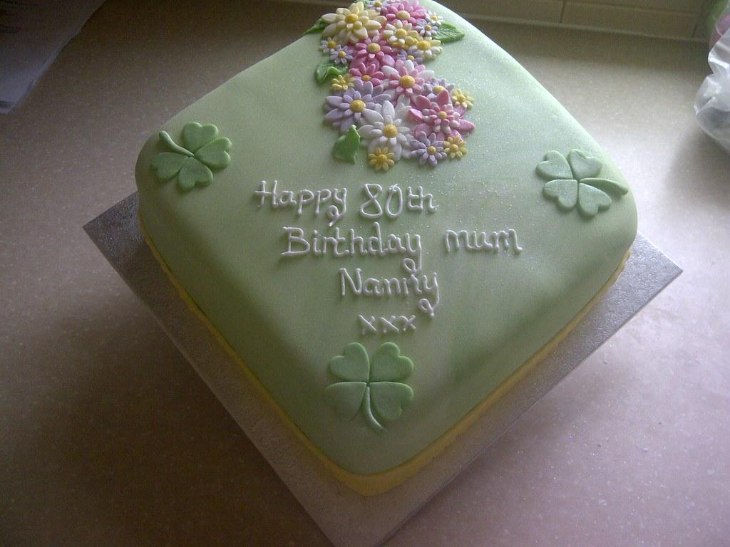 Prime Irish Shamrock Birthday Cake Pale Green Sugar Paste With F Flickr Birthday Cards Printable Trancafe Filternl