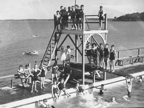 Manly Swimming Pool Brisbane 1936 | by State Library of Queensland, Australia