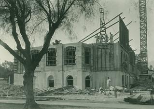 Construction on Mason Hall in 1922