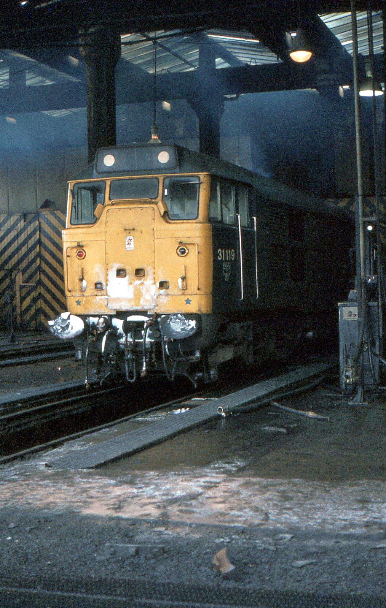 BR Class 31 31119, York, 12th. December 1981 by Crewcastrian